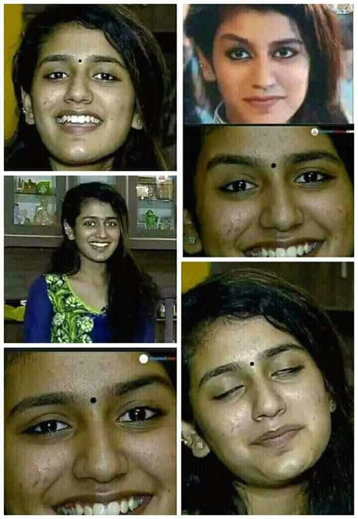 Original pic of Priya Prakash Varrier