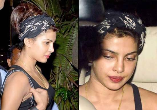 Top 10 Bollywood Actress Without Makeup Priyanka Chopra In Car