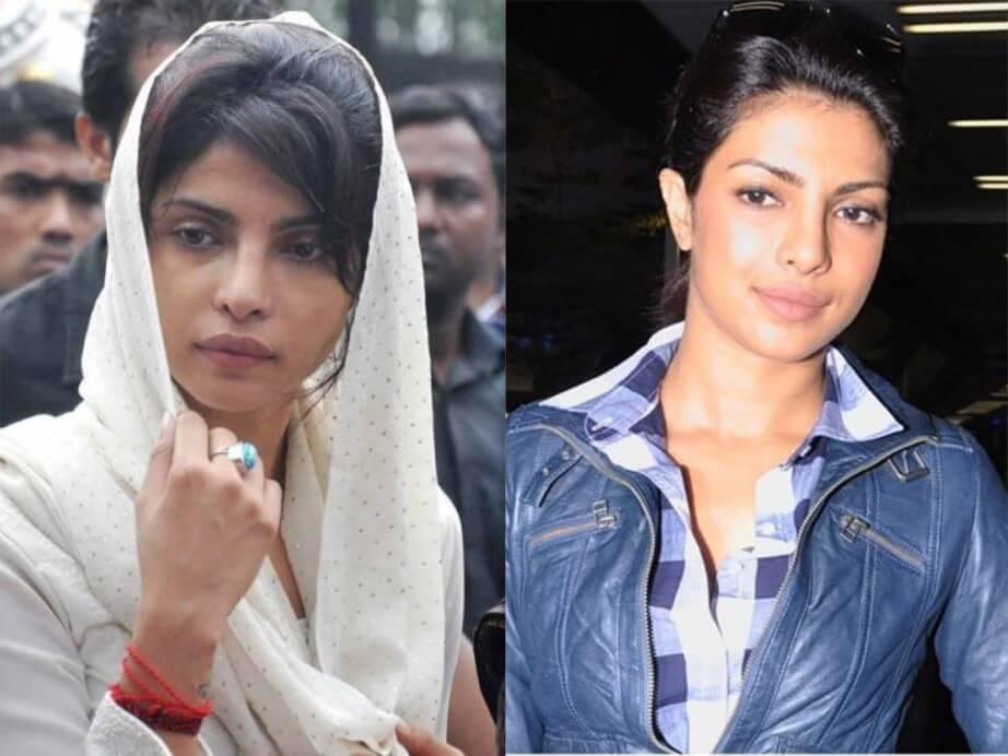 Top 10 Bollywood Actress Without Makeup Priyanka Chopra In Public