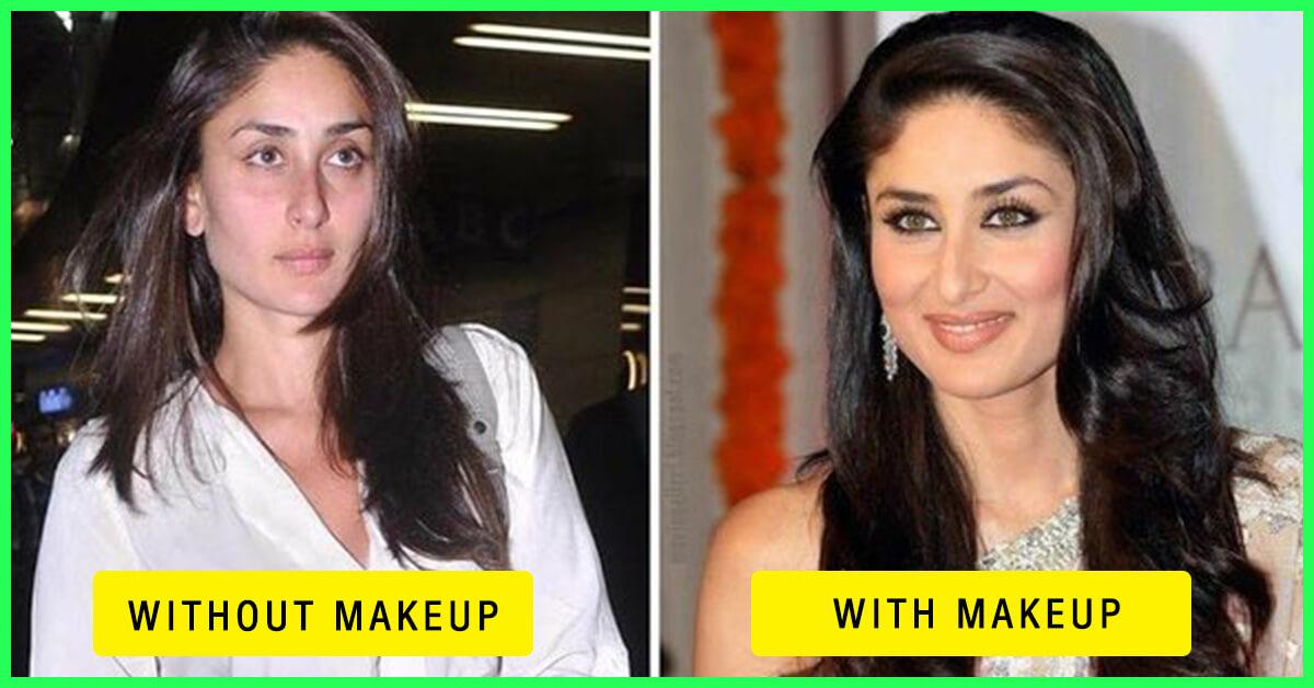 Top 10 Bollywood Actress Without Makeup And With Makeup Kareena Kapoor
