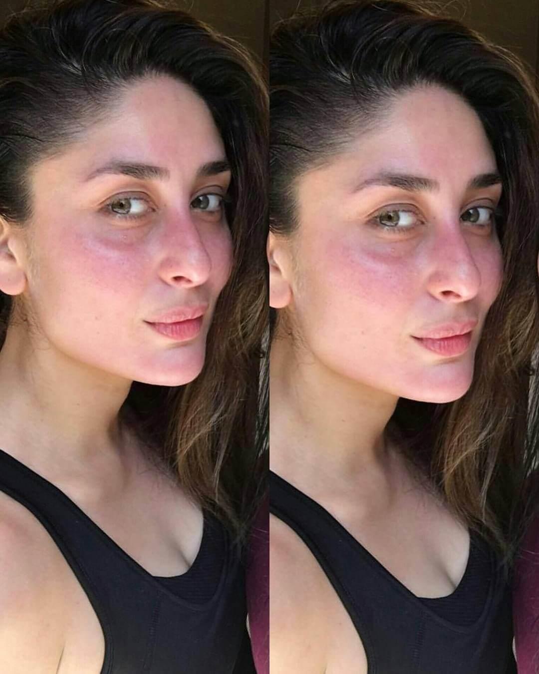 Top 10 Bollywood Actress Without Makeup Kareena Kapoor In Black