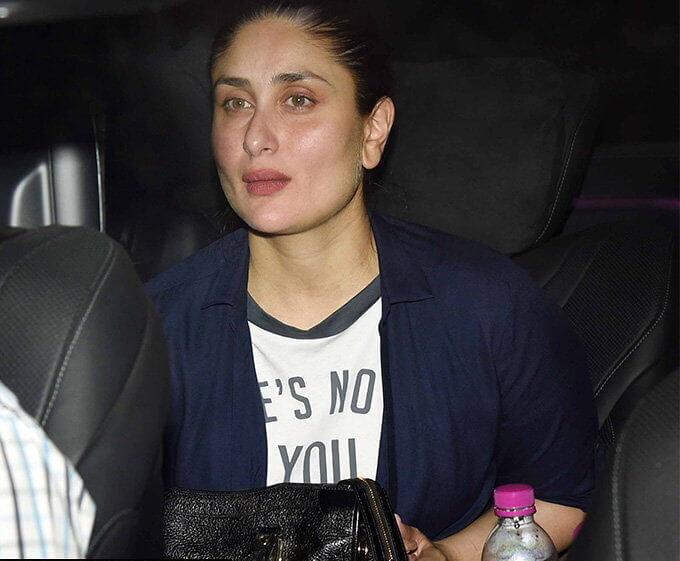 Top 10 Bollywood Actress Without Makeup Kareena Kapoor In Car