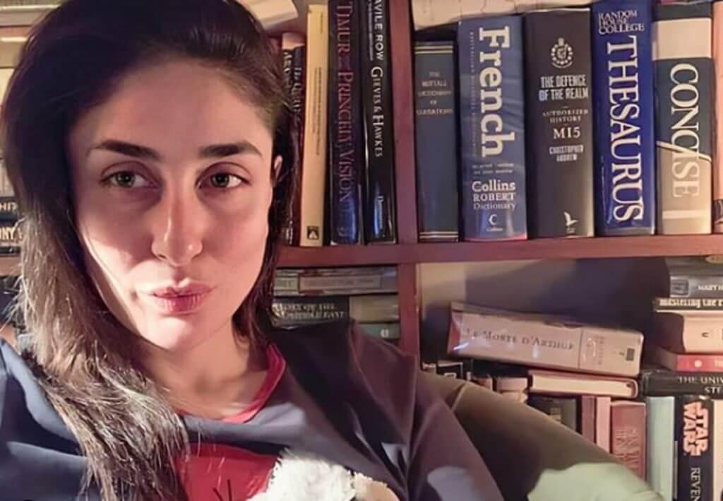 Top 10 Bollywood Actress Without Makeup Kareena Kapoor In Library