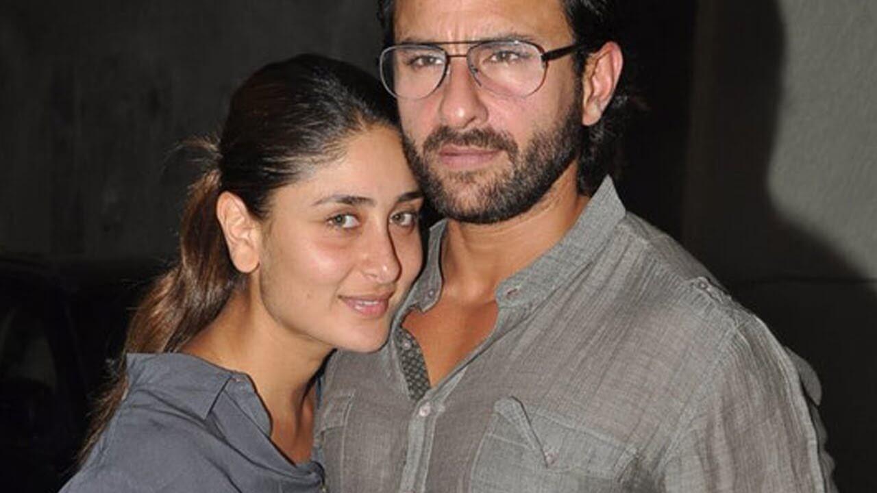 Top 10 Bollywood Actress Without Makeup Kareena Kapoor With Saif Ali Khan