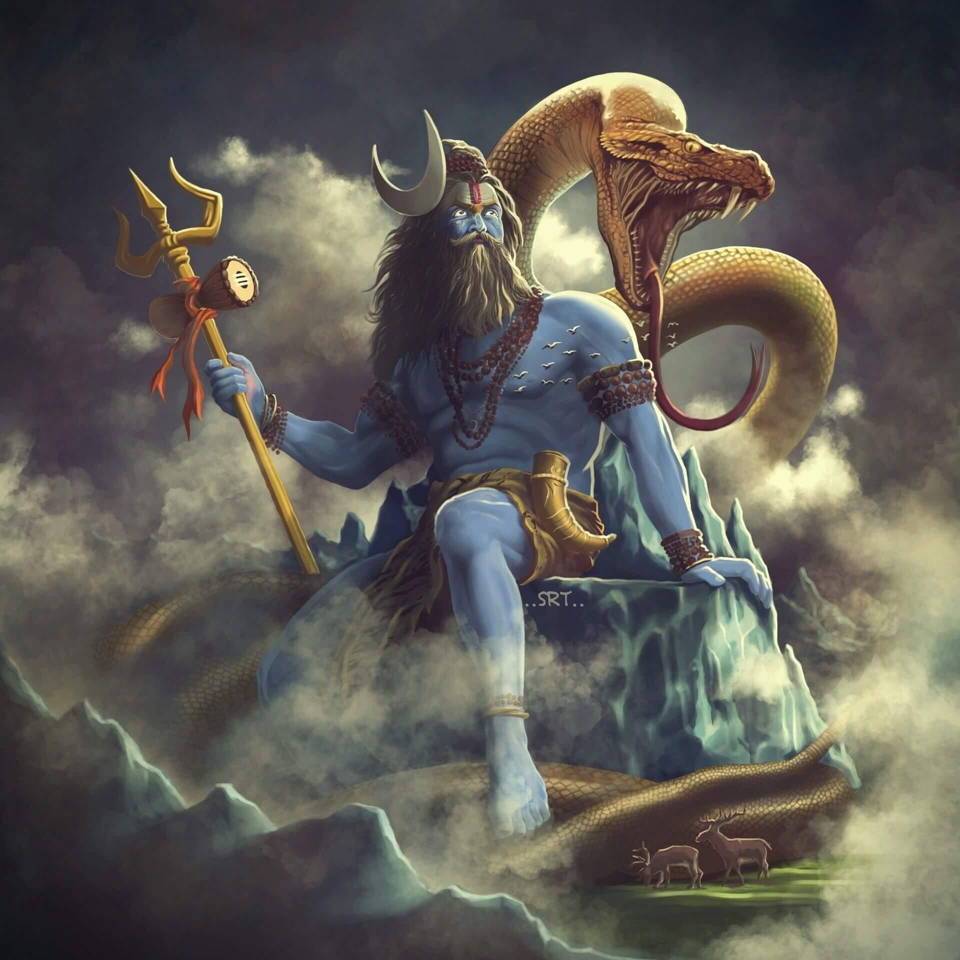 Jata Kata Hasambhrama Bhramanilimpanirjhari रावण रचित शिव तांडव स्तोत्र बोल और अर्थ Shiv Tandav Lyrics And Meaning Made By Ravan (5)