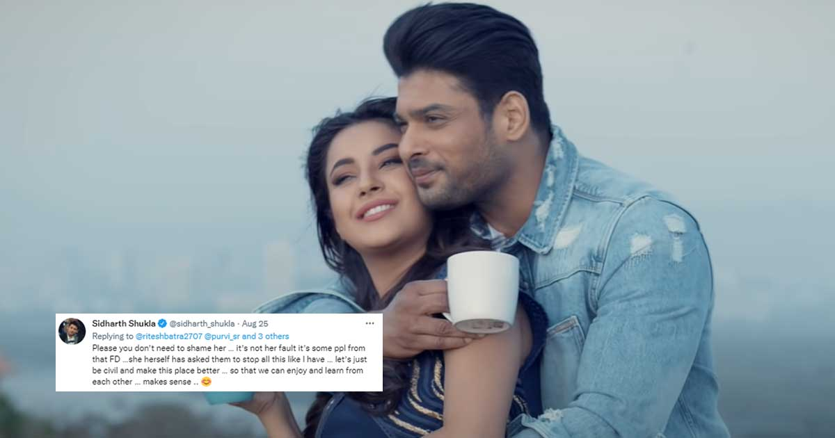Sidharth Shukla Defends Shehnaaz Gill Asks Fans To Stop Shaming Her As He Addresses The Abusive Tweets From Shehnaazians Read On 001