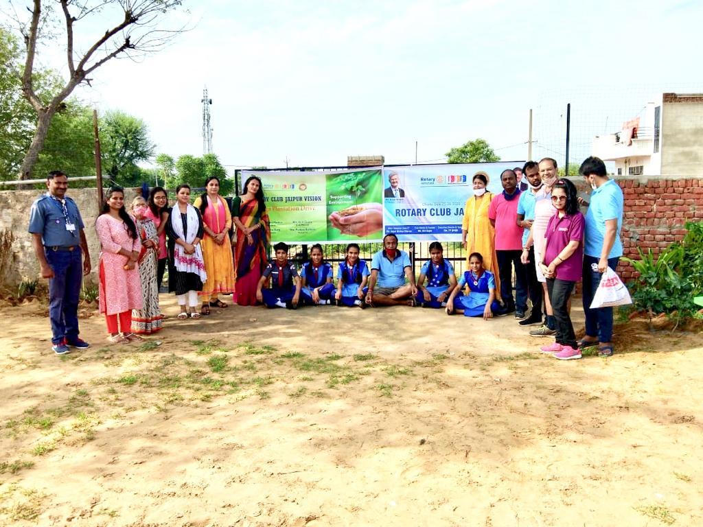रोटरी क्लब जयपुर विजन द्वारा वृक्षारोपण कर कार्यक्रम हुआ सम्पन ।