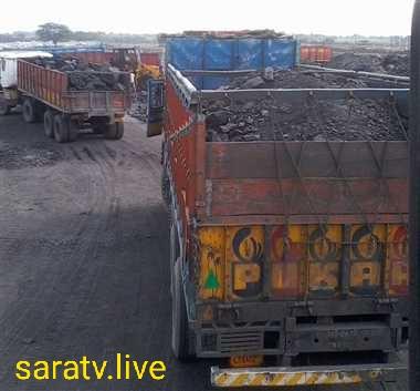 नावाडीह प्रखंड  में रेत और कोयले का अवैध परिवहन जोरों पर