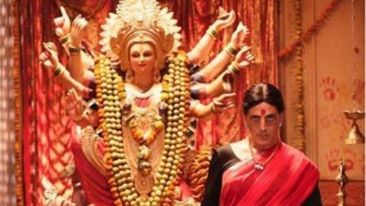 नवरात्र में अक्षय कुमार का 'लक्ष्मी बॉम्ब' से लुक आया सामने, देवी के साथ लाल साड़ी में दिखा गजब अंदाज