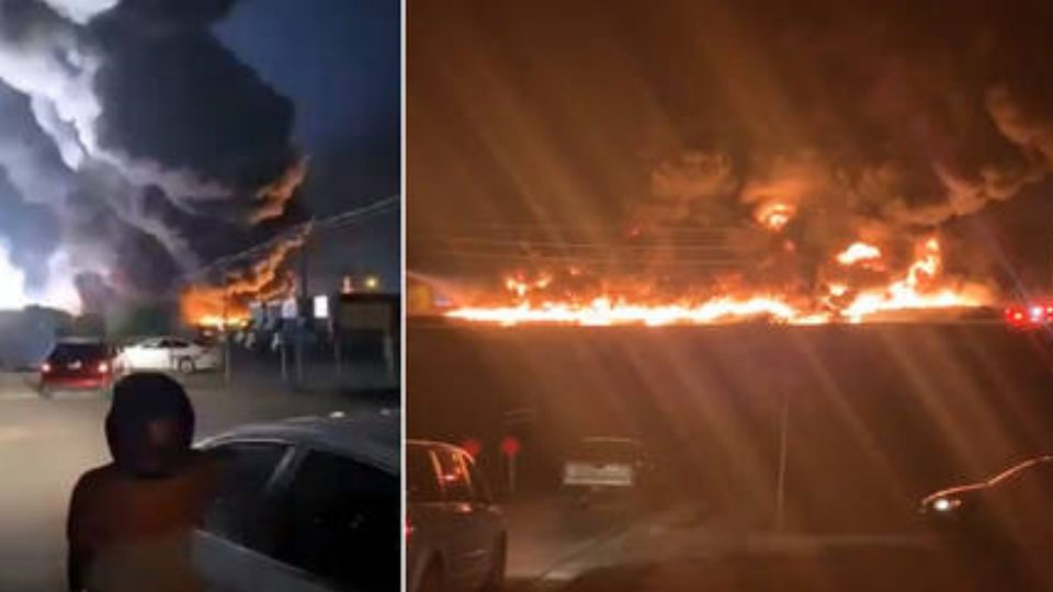 Huge blaze at Texas plastic facility following major explosion
