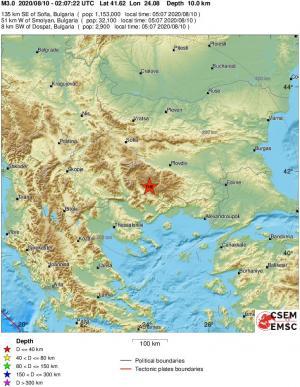 emsc earthquake, greece north macedonia