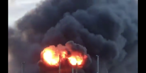Explosion in Kent, Fire at hoo marina in rochester, UK